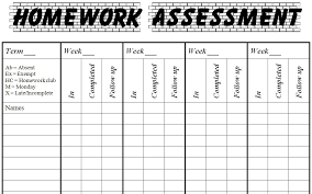 Homework Chart Template For Teachers Homework Template For Teachers Bismi Margarethaydon Com