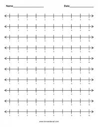 Kids : Blank Number Line Worksheets Pichaglobal 1 10 Worksheet ...