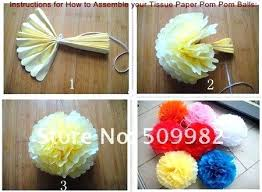 Paper Flower Balls To Hang From Ceiling Tissue Ball Decorations Party Supplies 5 Large Paper Pom