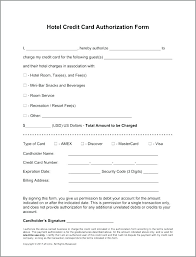 free hotel credit card authorization forms word printable report form template elegant doc