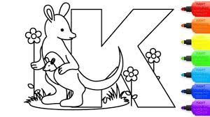 Just click on the alphabet coloring pages that you like and then click on the print button at the top of the page. How To Draw Alphabet Letter K Coloring Page For Kids I Learn Coloring Book With Alphabet Letter K Youtube