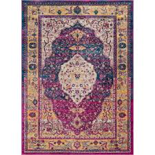 well woven lau molly multi colored 5 ft x 7 ft modern vintage