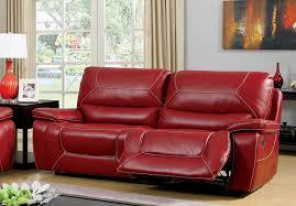 red leather reclining sofa. Amazon.com: Furniture Of America Dunham 2-Recliner Sofa, Red: Kitchen \u0026 Dining Red Leather Reclining Sofa I