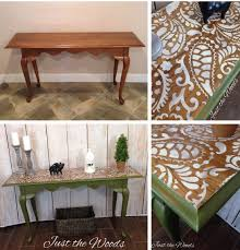 cutting edge furniture. a diy stenciled hall table using the paisley craft stencil from cutting edge stencils http furniture n