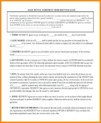 Generic Residential Lease Agreement Inspiration Basic Residential Lease Agreement Studiorcco