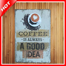 home decor plate x: decor plates new coffee is always poster vintage metal signs home font b decor b font vintage tin
