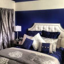 Royal Blue White And Silver Bedroom