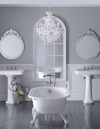 modern clawfoot tub ideas for bathroom interior decoration astonishing white bathroom decoration with crystal chandelier