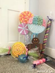 make giant candy for a candyland theme