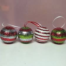 Easy diy Christmas Ornaments. I make them with styrofoam balls, pins and  sequins.