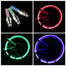 Valve Stem Lights For Cars Us 0 98 23 Off 2 Pcs Stainless Steel Bicycle Led Neon Lamp Valve Stem Light Bicycle Wheel Tire Cap Car Flash Tyre Light Colorful Wheel Lights In