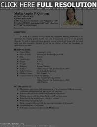 Resume Format Format Resume Work Template
