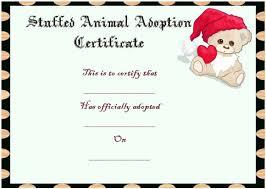 Pet Adoption Certificate Template Toy Adoption Certificate Template 13 Free Word Templates