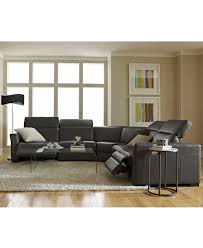 Macys Living Room Furniture Nicolo Leather Power Reclining Sectional Sofa Collection With