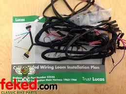 electrical wiring harness bsa wiring harness genuine lucas genuine lucas main wiring harness bsa bantam d7 s3536