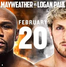 Floyd mayweather, left, and logan paul face off during a press event thursday, june 3, 2021, in miami beach, fla. Floyd Mayweather Vs Logan Paul Confirmed For February 20 With Pair Set To Rake In Millions For Exhibition Fight