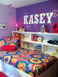 Peace Sign Room Decor Ideas Special Spaces Minneapolis Peace sign tiedye tween bedroom 2