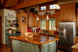 these kitchen cabinets look fantastic with the butcher block countertop on the kitchen island