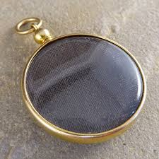 antique edwardian glass locket in 15ct gold