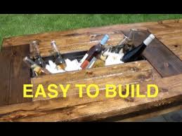 diy outdoor table with cooler. HOW TO BUILD A FARMHOUSE TABLE WITH BUILT IN COOLERS - COMPLETE AND EASY PLAN Diy Outdoor Table With Cooler