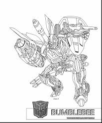 Transformers Coloring Pages Printable Free With Bumblebee