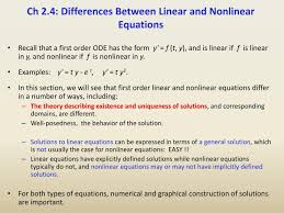 ch 2 4 differences between linear and nar equations