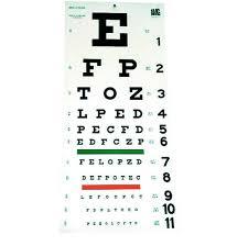 Eye Side Test Chart Amg 116 830 Snellen Eye Chart Plastic 2 Sided 20 Ft Test Distance Ea 1