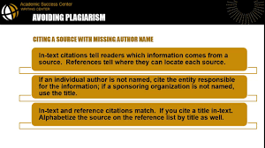 Plagiarism Information Writing Center Library At Purdue