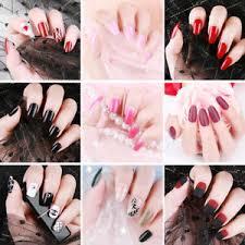 long press on false nails black purple