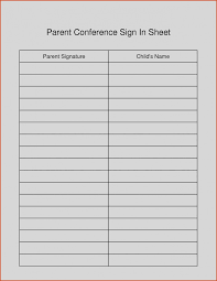 Parents Sign In Sheet Parent Teacher Conference Sign Up Sheet Insaat Mcpgroup Co