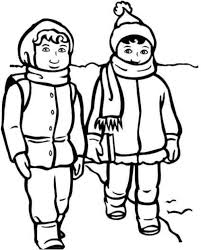 Small Picture Boy And Girl With Winter Clothes Coloring Page Boys Coloring