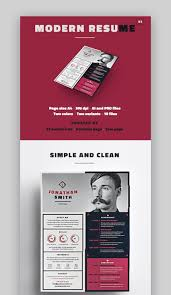 Best In 2019 25 Professional Resume Design Templates Cool Modern