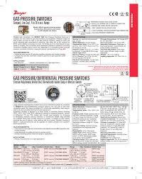 Gas Pressure Chart Gas Pressure Differential Pressure Switches