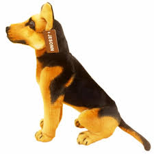 jesonn realistic stuffed s sitting shepherd dog plush toys german shepherd for children s birthday gifts