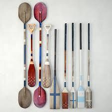 3d vintage wooden paddles oars model