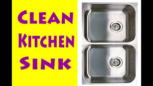 How To Clean Stainless Steal How To Clean A Stainless Steel Kitchen Sink Youtube