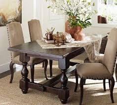 black dining room table pottery barn. cortona fixed dining table - pottery barn black room n
