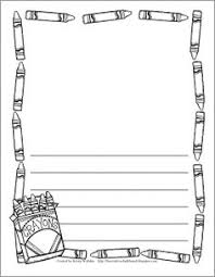 Kindergarten Writing Pages Writing Border Page Template