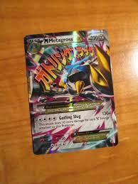 JUMBO Pokemon Mega Metagross EX #XY35 OVERSIZED Holo Promo Card w/ Top  Loader Collectible Card Games Pokémon Trading Card Game