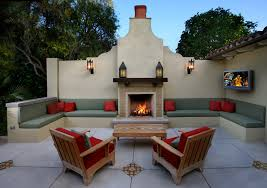 Awe-Inspiring Outdoor Wall Sconce Decorating Ideas Images in Patio  Mediterranean design ideas