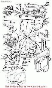 yamaha xs wiring diagram yamaha automotive wiring diagrams yamaha xv920rj virago 1982 electrical 1 bigyau0867f 5 603a