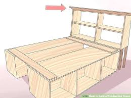 make a wood frame wood bed frame twin twin bed frame easy image titled build a