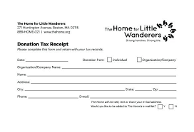 Donation Acknowledgement Letter Template Tax Receipt Of