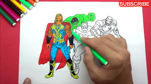Spiderman iron man deadpool captain america wolverine coloring pages superheros coloring pages toys for kids. Iron Man Vs Hulk Vs Captain America Vs Thor Coloring Pages For Kids Video Dailymotion