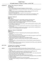 Creative Assistant Resume Samples Velvet Jobs