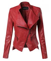 women s bike rider moto leather jacket