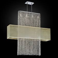 rectangular shade crystal chandelier urban essentials 595em44 42sp t 3