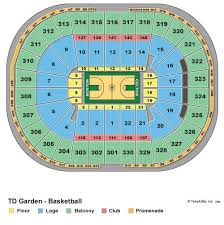 Td Garden Seating Chart With Seat Numbers Td Garden Virtual