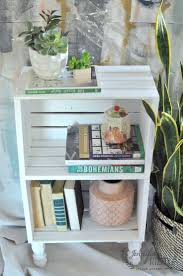 I love this idea of using craft store crates to make a fast and inexpensive  side
