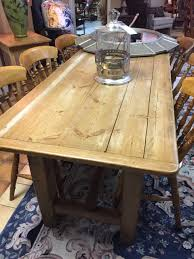 Antique English Country Pine Farm Table A